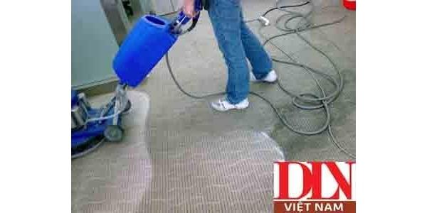 Các bước vệ sinh thảm bằng máy chà sản thảm công nghiệp