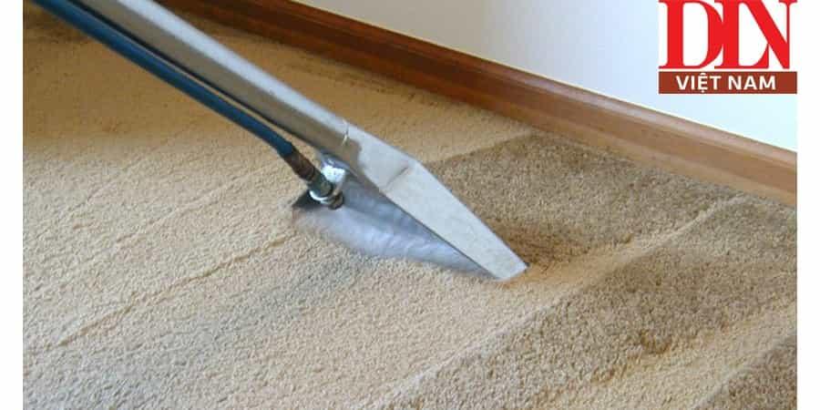 Quy trình vệ sinh thảm trải nhà bằng máy giặt thảm phun hút