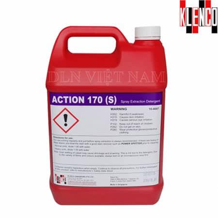Hóa chất giặt thảm ghế nỉ ít bọt Action 170s